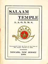 Thumbnail image of Salaam Temple A.A.O.N.M.S. 1908 Roster cover