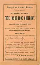 Thumbnail image of Vermont Mutual Fire Ins. 61st Annual Report cover