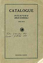 Thumbnail image of Rockford High Schools 1862-1914 Catalogue cover