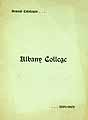 Thumbnail image of Albany College 1901-02 Catalogue cover