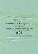 Thumbnail image of Little River Co., Arkansas 1898 List of Electors cover