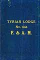 Thumbnail image of Tyrian Lodge, F. & A. M. 1906 By-Laws cover