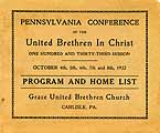 Thumbnail image of United Brethren in Christ, 1922 Penna Conference cover