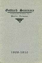 Thumbnail image of Goddard Seminary 1909-1910 Catalogue cover