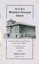 Thumbnail image of Ocean Park Methodist Episcopal Church 1925 Directory cover