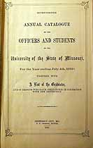 Thumbnail image of University of Missouri 1859 Catalogue cover