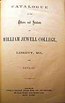 Thumbnail image of William Jewell College 1870-71 Catalogue cover
