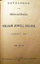 Thumbnail image of William Jewell College 1871-72 Catalogue cover