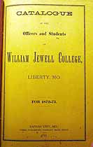 Thumbnail image of William Jewell College 1872-73 Catalogue cover