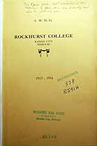 Thumbnail image of Rockhurst College 1915-16 Catalogue cover