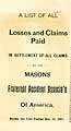 Thumbnail image of Masons Fraternal Accident Assoc. 1897 Claims cover
