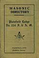 Thumbnail image of Plainfield Lodge, F. & A. M. 1928 Directory cover