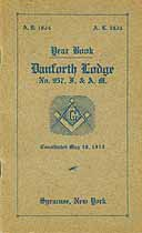Thumbnail image of Danforth Lodge, F. & A. M. 1924 Year Book cover