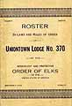 Thumbnail image of Uniontown Lodge, No. 370, B.P.O.E. 1921 Roster cover