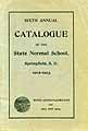 Thumbnail image of Springfield Normal School 1902-03 Catalogue cover