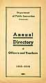 Thumbnail image of Schenectady Officers and Teachers 1915-1916 Directory cover