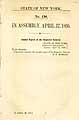 Thumbnail image of New York Assembly Bulletin No. 138 cover