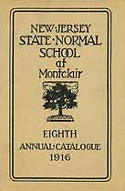 Thumbnail image of Montclair Normal School 1916 Catalogue cover