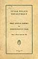 Thumbnail image of Tulsa Police Department 1923 Report cover