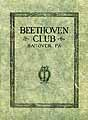 Thumbnail image of Beethoven Club 1929-1930 Program cover