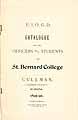 Thumbnail image of St. Bernard College 1895-96 Catalogue cover