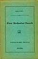 Thumbnail image of Comanche First Methodist Church 1929 Directory cover