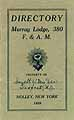 Thumbnail image of Murray Lodge, F. & A. M. 1926 Directory cover