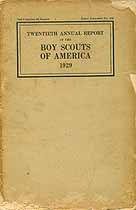 Thumbnail image of Boy Scouts of America 1929 Report cover