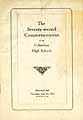 Thumbnail image of Columbus High Schools 1922 Commencement cover