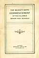Thumbnail image of Columbus High Schools 1926 Commencement cover