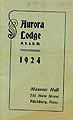 Thumbnail image of Aurora Lodge 1924 Roster cover