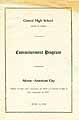 Thumbnail image of Akron Central High School 1919 Commencement cover