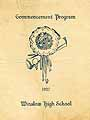 Thumbnail image of Winslow High School 1927 Commencement cover