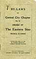 Thumbnail image of Central City Chapter O. E. S. 1918 By-Laws cover