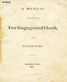Thumbnail image of Sharon First Congregational Church 1877 Manual cover