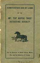 Thumbnail image of Mt. Top Horse Thief Detecting Society 1919 By-Laws cover