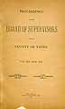 Thumbnail image of Yates County Coroner and Supt. of Poor 1898 Reports cover