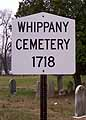 Thumbnail image of Whippany Cemetery, Whippany, NJ cover
