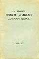 Thumbnail image of Homer Academy 1920-21 Catalogue cover