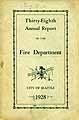 Thumbnail image of Seattle Fire Deparment 1928 Report cover