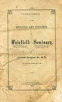 Thumbnail image of Fairfield Seminary 1863 Catalogue (Partial) cover