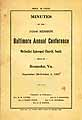 Thumbnail image of Baltimore Annual Conference Methodist Episcopal Church 1927 Minutes cover
