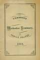 Thumbnail image of Vermont Methodist Seminary 1872 Catalogue cover