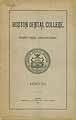 Thumbnail image of Boston Dental College 1890-91 Announcement cover