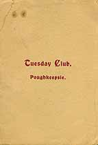 Thumbnail image of Poughkeepsie Tuesday Club 1903-1904 Programme cover