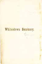 Thumbnail image of Whitestown Seminary 1858 Catalogue cover