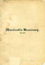 Thumbnail image of Monticello Seminary 1904-1905 Catalogue cover