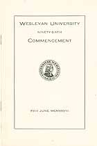 Thumbnail image of Wesleyan University 1928 Commencement cover