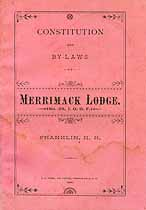 Thumbnail image of Merrimack Lodge, No. 28 of I.O.O.F. 1889 By-Laws cover