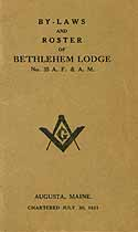 Thumbnail image of Bethlehem Lodge, F. & A. M., 1920-21 Roster cover
